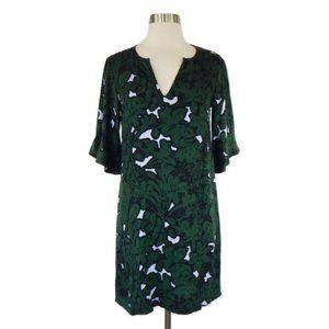 ELLA MOSS GREEN RUFFLE SLEEVE SHIFT DRESS